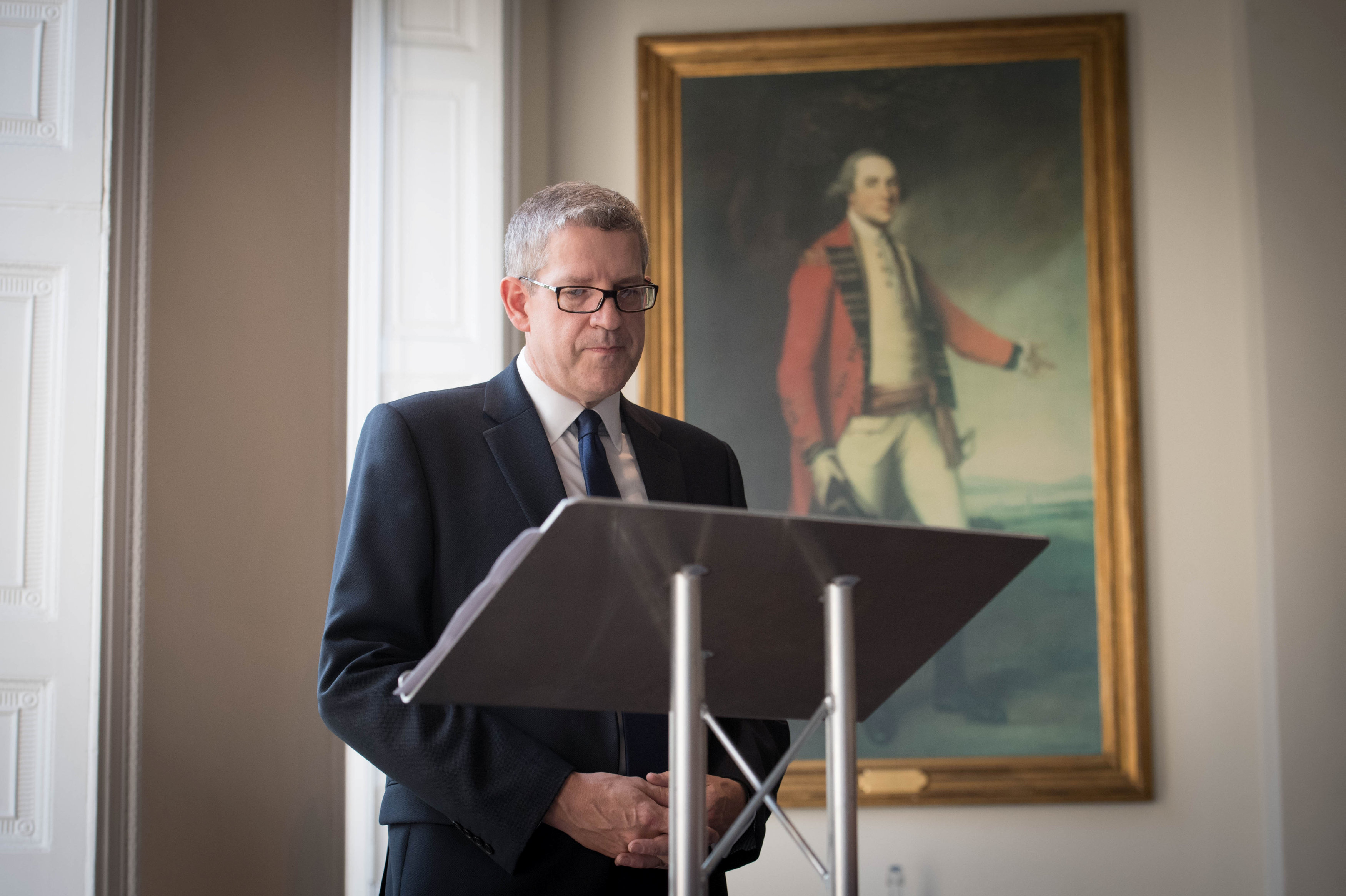 Director General of MI5 Andrew Parker delivers a speech in central London, on the security threat facing Britain October 17, 2017