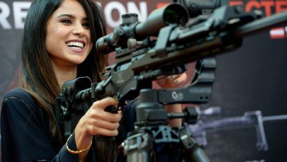 Girl Power! Armed Ladies Steal the Show at World's Defense Exhibitions