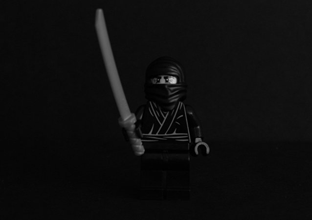 Lego Black and White picture Ninja