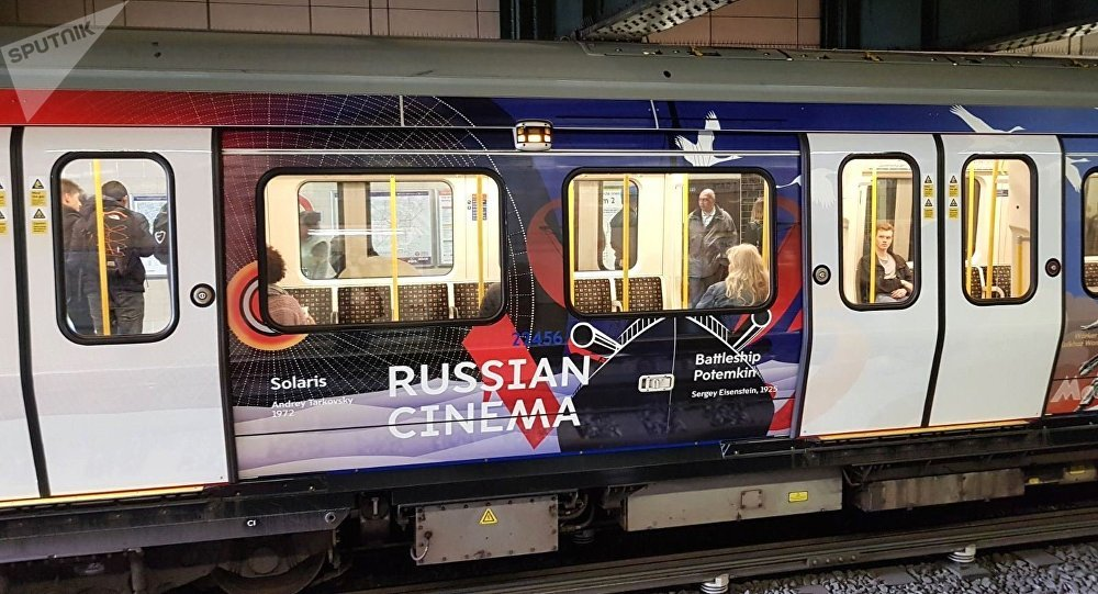 The themed train 'The Heart of Russia' launched on the London underground