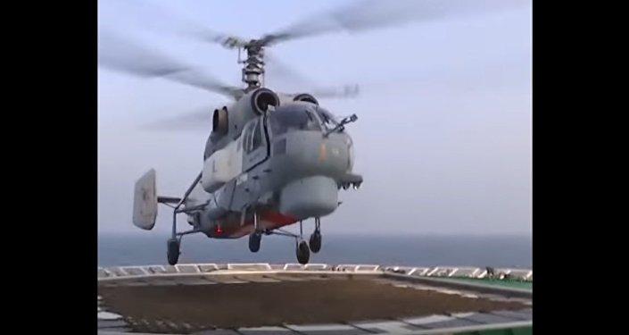 Landing of a Ka-27 on the Deck of an Icebreaker