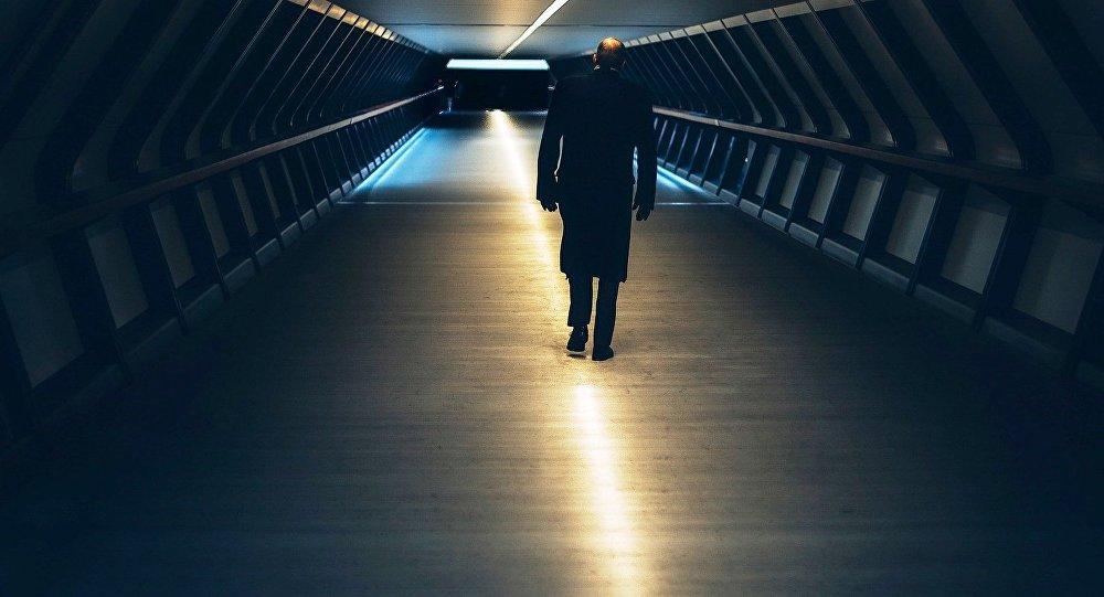A man walking in London