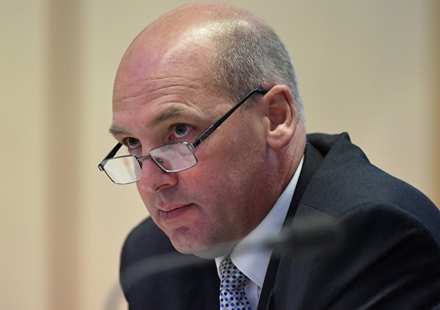 In this Feb. 8, 2016 file photo, President of the Senate Stephen Parry speaks during a Senate Estimates Committee at Parliament House in Canberra, Australia. Despite a High Court decision thought to have ruled a line under the saga last Friday, the dual citizenship crisis that has rocked Australia's parliament took another twist on Tuesday, Oct. 31 2017, with a senior member of the governing Liberal Party saying he may have to quit parliament.