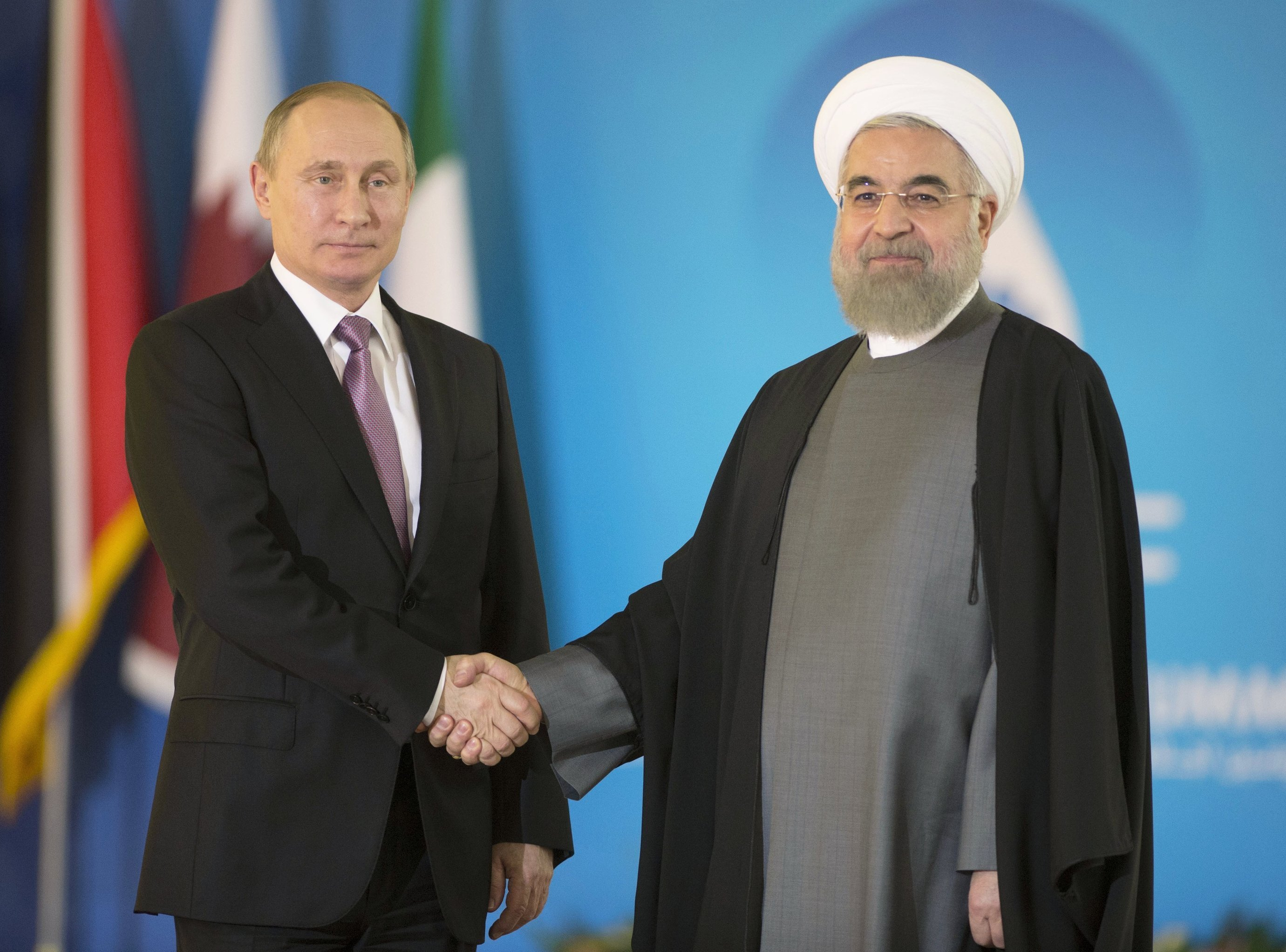 Putin holds talks with Iranian, Azerbaijani counterparts