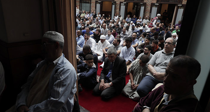 Muslim men praying at a mosque (File)