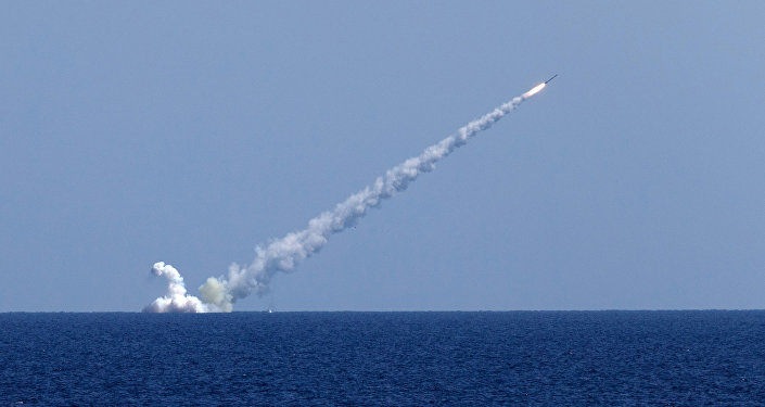 Launching Kalibr cruise missiles at terrorist targets in Syria. File photo