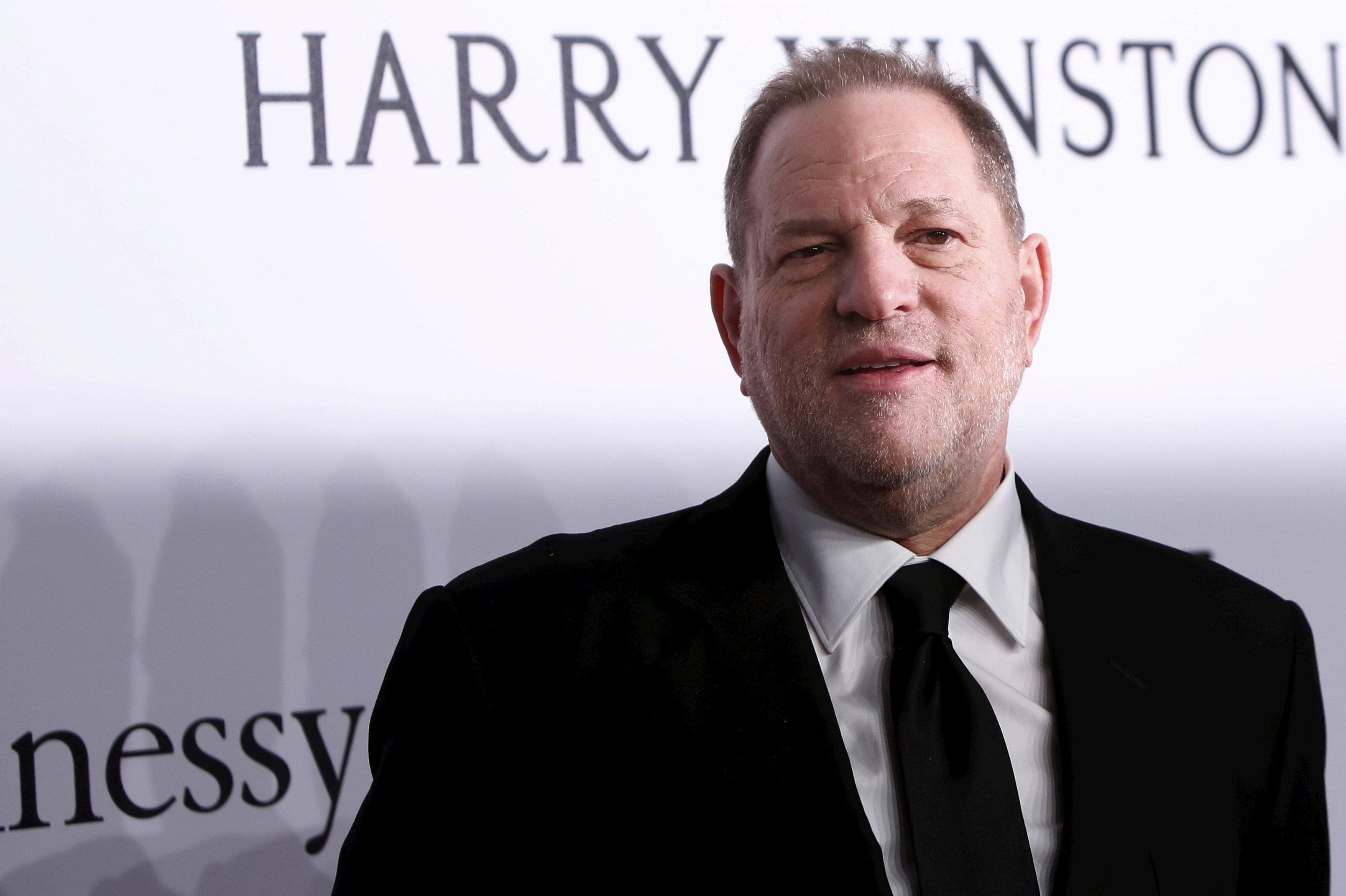 Film producer Harvey Weinstein attends the 2016 amfAR New York Gala at Cipriani Wall Street in Manhattan, New York