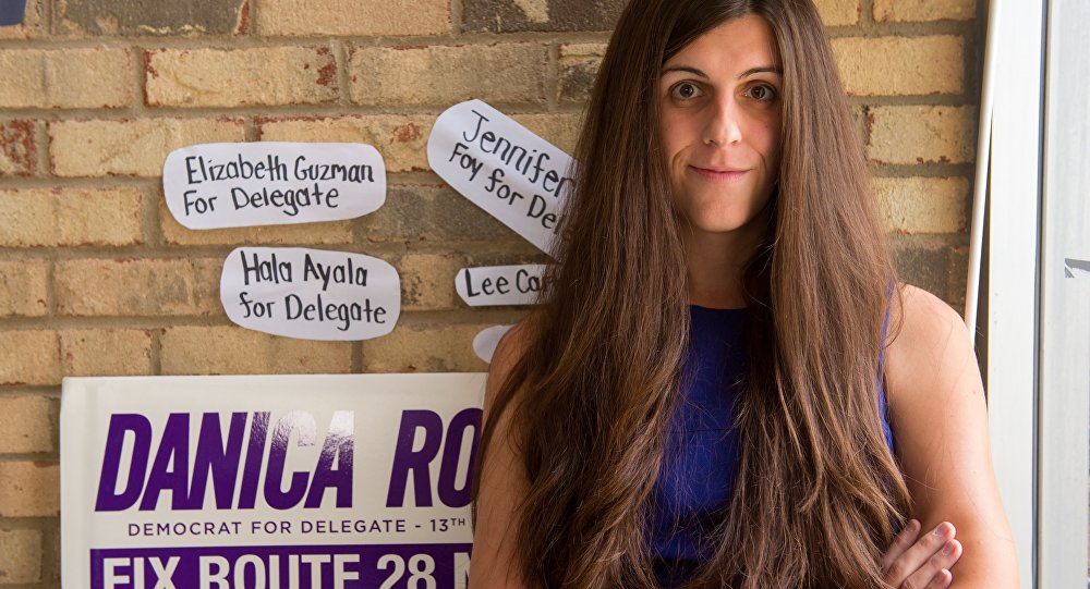 Danica Roem, a Democrat for Delegate in Virginia's district 13 at her campaign office on September 22, 2017 in Manassas, Virginia