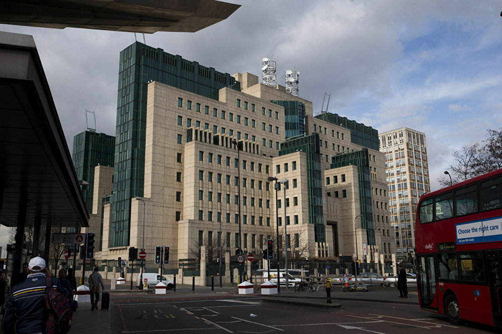 A general view shows the MI6 building in London, Thursday, March 5, 2015.