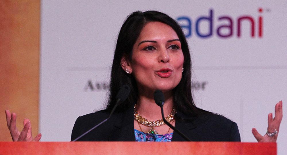 Priti Patel speaks during the inauguration of Youth Pravasi Bharatiya Divas in Gandhinagar, India, Wednesday, Jan. 7, 2015.