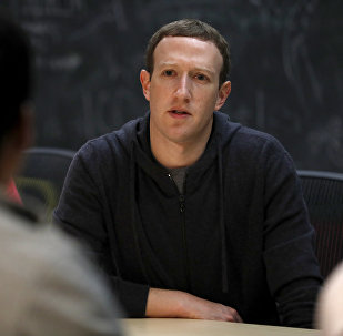 Facebook CEO Mark Zuckerberg meets with a group of entrepreneurs and innovators during a round-table discussion at Cortex Innovation Community technology hub Thursday, Nov. 9, 2017, in St. Louis