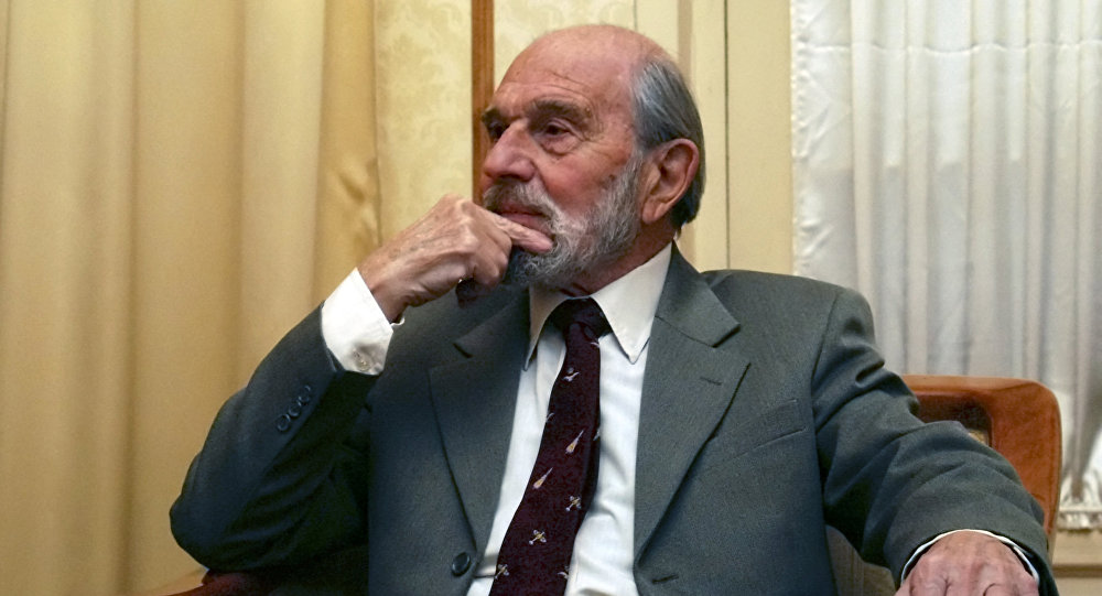 George Blake, a former British spy and double agent in service of the Soviet Union, seen in Moscow in this Nov. 15, 2006 file photo