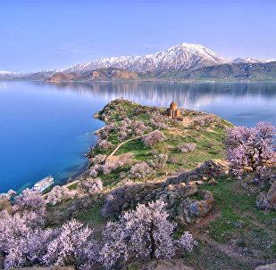 The Akhtamar Island in Lake Van
