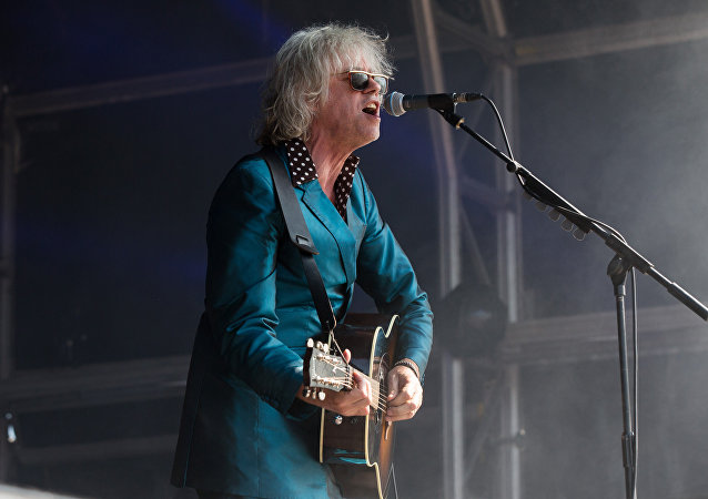 Singer Sir Bob Geldof performs at Camp Bestival 2015 at Lulworth Castle on Sunday, August 2, 2015, in Dorset, England. Thousands are to attend to see headliners Clean Bandit, Kaiser Chiefs and Underworld.