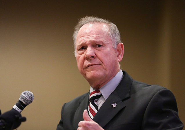 Judge Roy Moore participates in the Mid-Alabama Republican Club's Veterans Day Program in Vestavia Hills, Alabama, U.S., November 11, 2017