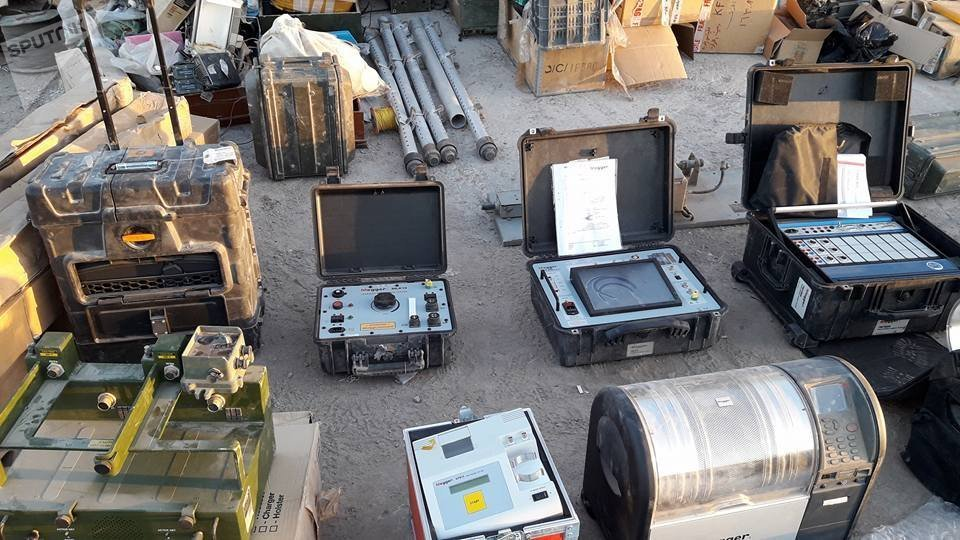 Warehouse of Daesh weapons