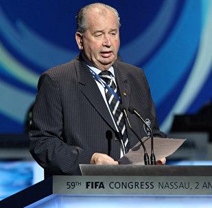 Julio H. Grondona speaks at the 59th FIFA Congress in Nassau, Bahamas, Wednesday, June 3, 2009.