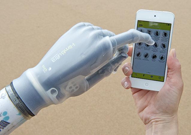 Smartphone controlled bionic hand (i-limb)