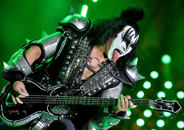 Gene Simmons of Kiss rock group performs at a concert in the Olimpiysky Arena, Moscow. File photo