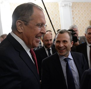 Foreign Minister Sergei Lavrov meets with Lebanese counterpart, Gebran Bassil