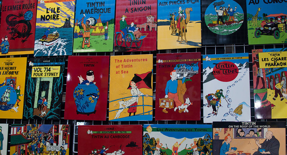 Tintin comic books