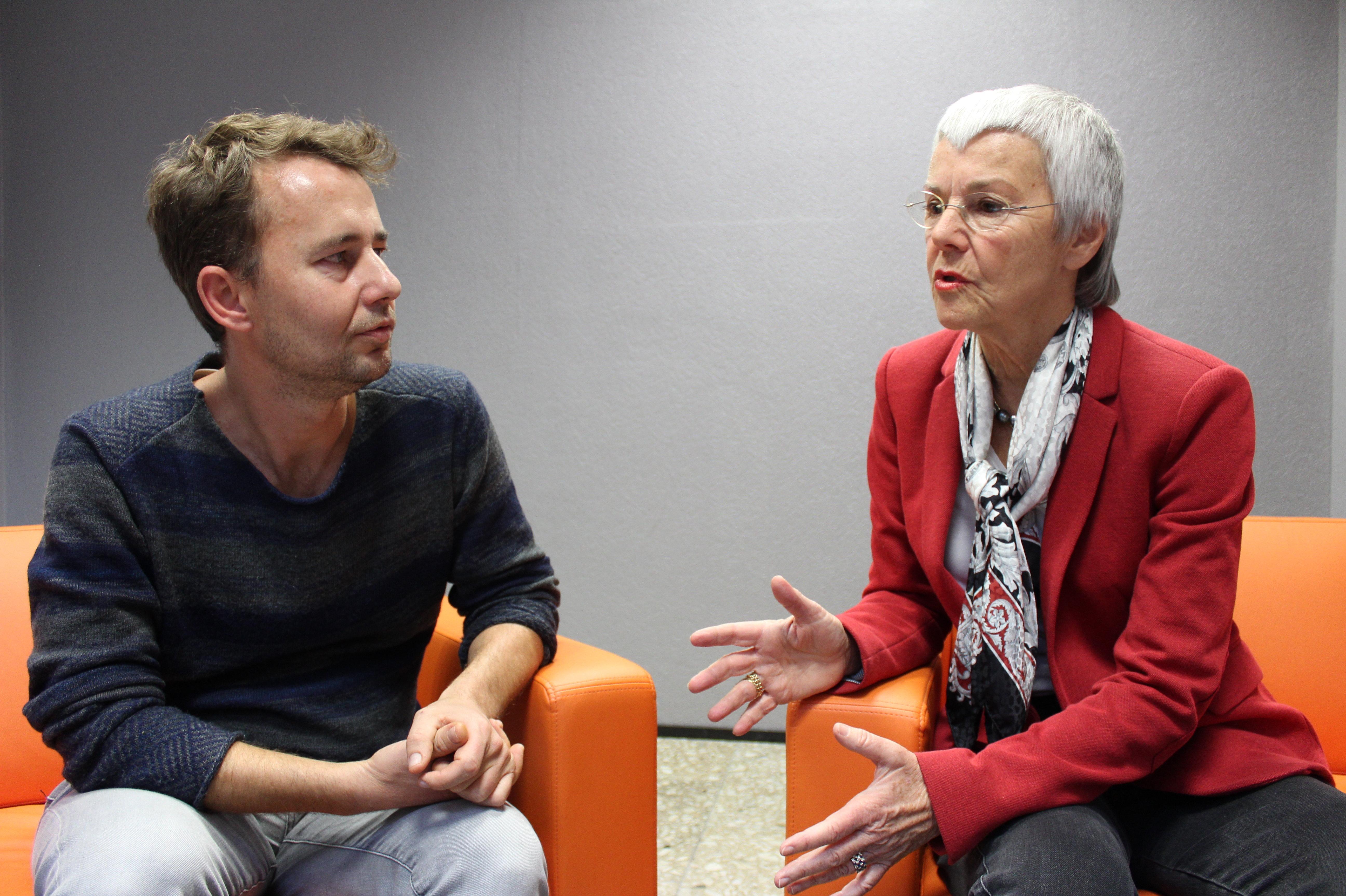 Sputnik editor Armin Siebert in conversation with Gabriele Krone-Schmalz