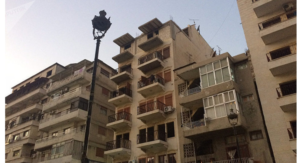 One of the streets in Latakia