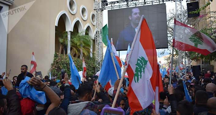 LEBANON: PEOPLE CELEBRATE RETURN OF THE PRIME MINISTER S. HARIRI TO THE COUNTRY