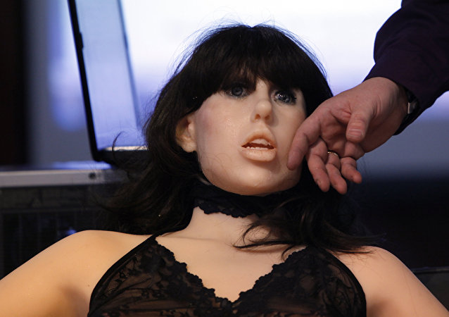 A life-size rubber doll named Roxxxy is on display during the Adult Entertainment Expo in Las Vegas, Saturday, Jan. 9, 2010.