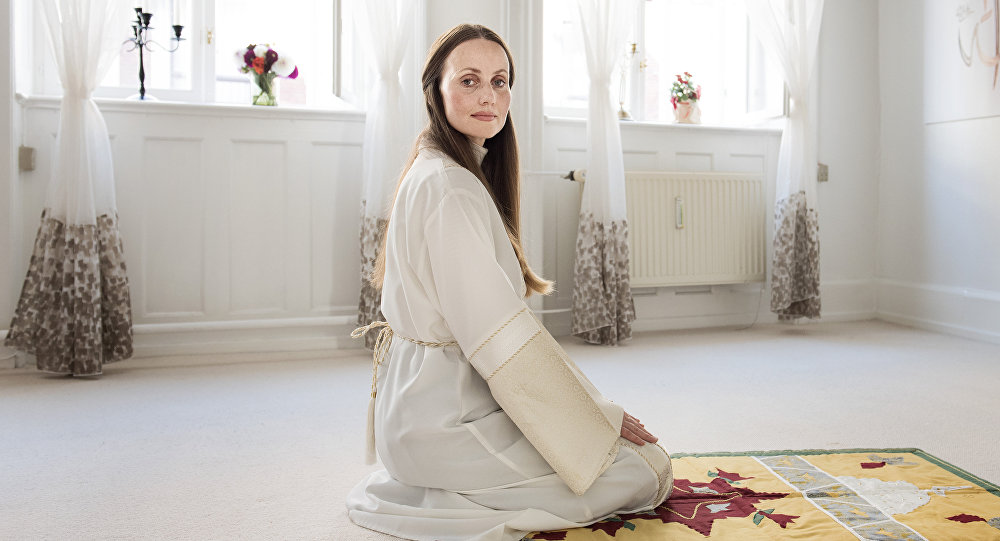 This picture taken in 2016 shows Sherin Khankan of the female-led Mariam Mosque, posing for a photo in Copenhagen, Denmark