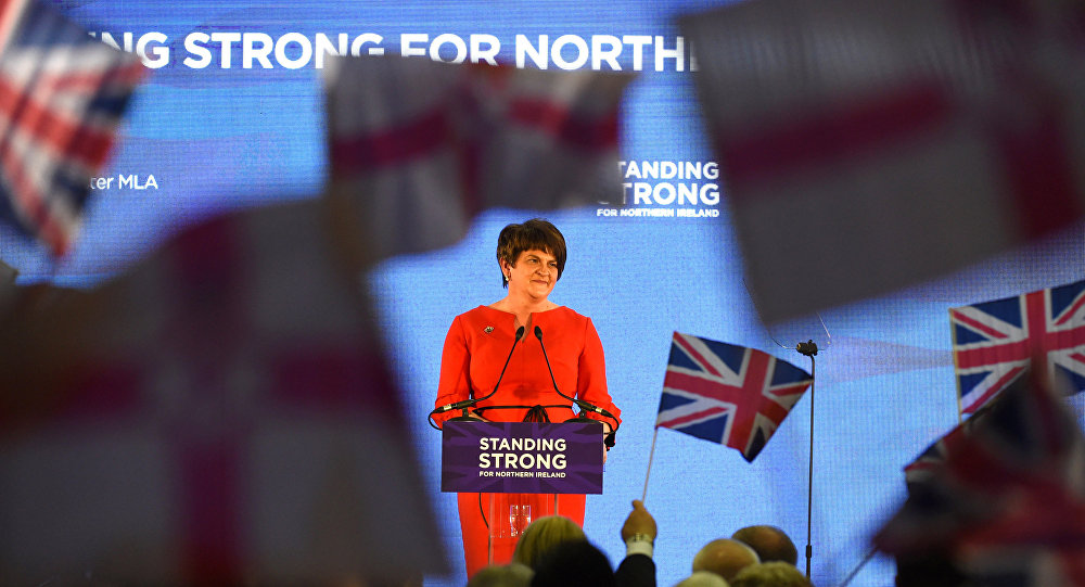 DUP leader Arlene Foster speaks at her party's annual conference in Belfast, Northern Ireland, November 25, 2017.