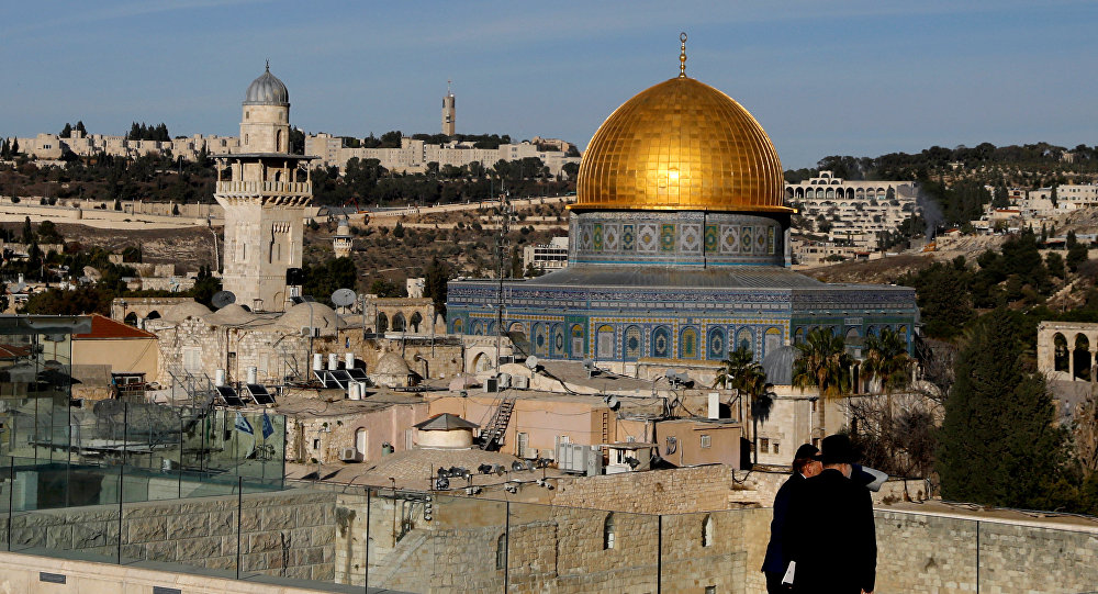 A general view shows the Dome of the Rock and Jerusalem's Old City December 4, 2017