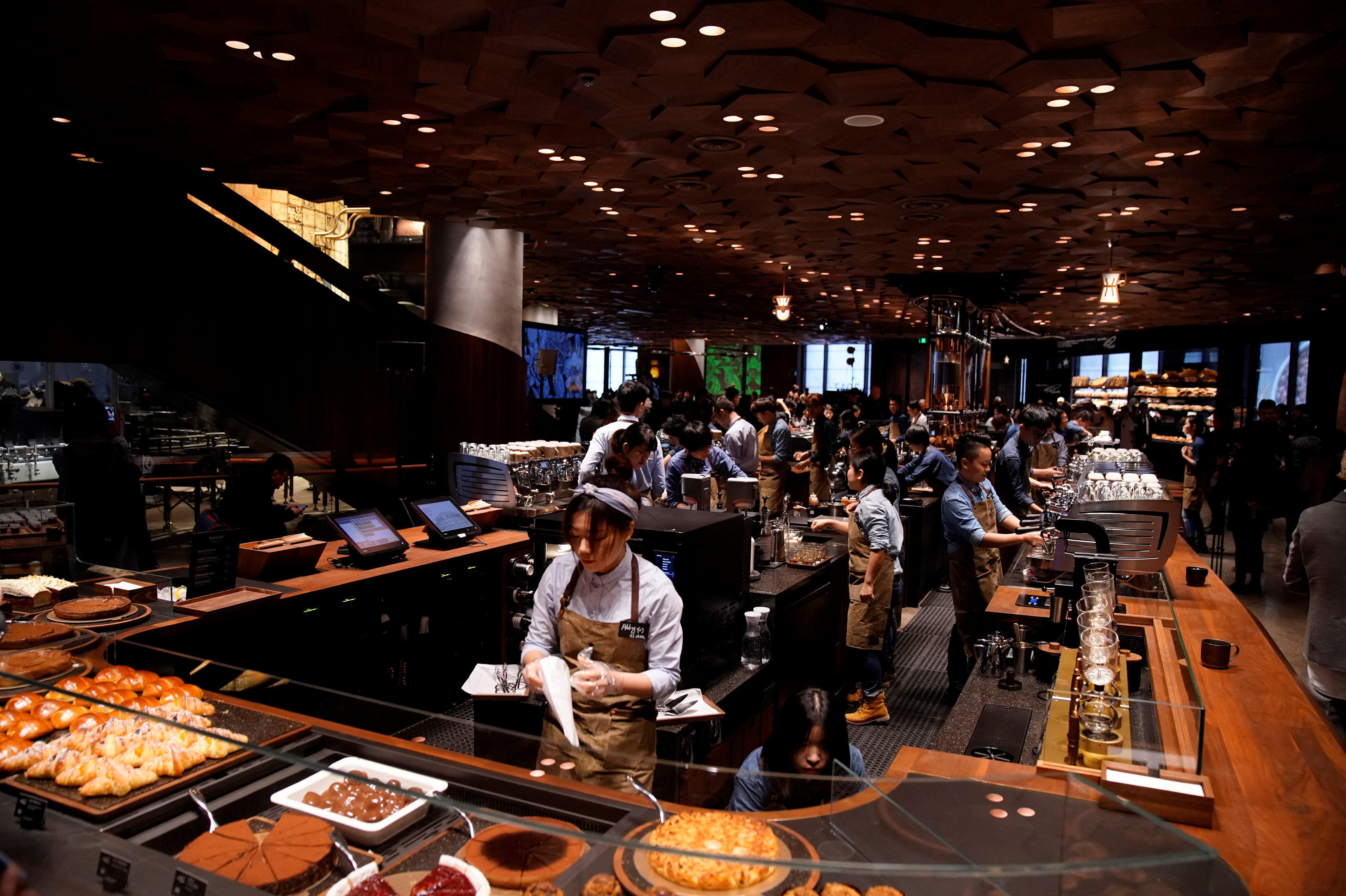 A view of the new Starbucks Reserve Roastery during a press conference in Shanghai, China, December 5, 2017