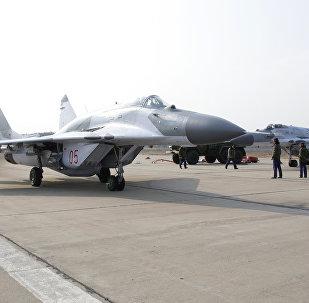 Mikoyan MiG-29SMT jet fighter aircraft