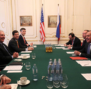 U.S. Secretary of State Rex Tillerson and Russia's Foreign Minister Sergei Lavrov attend a bilateral meeting during a ministerial council of OSCE Foreign Ministers in Vienna, Austria, December 7, 2017
