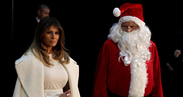 U.S. first lady Melania Trump arrives to make annual Christmas visit to Children's National Hospital in Washington, U.S