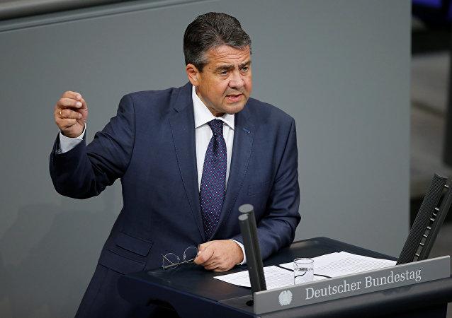 Sigmar Gabriel im Bundestag