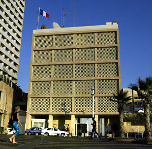 A view of the French embassy in Tel Aviv, Israel (File)