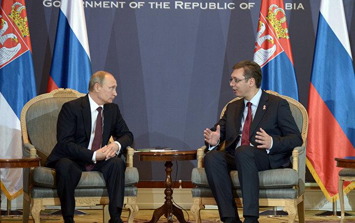 WATCH Serbian President Present Putin With Yugoslavian Shepherd Pup Named Pasha