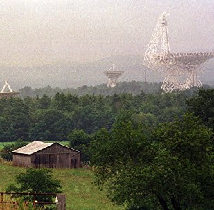 The Robert C Byrd radio telescope and its companions collect radio waves and use them to study galaxies, pulsars, planets, asteroids and forming stars