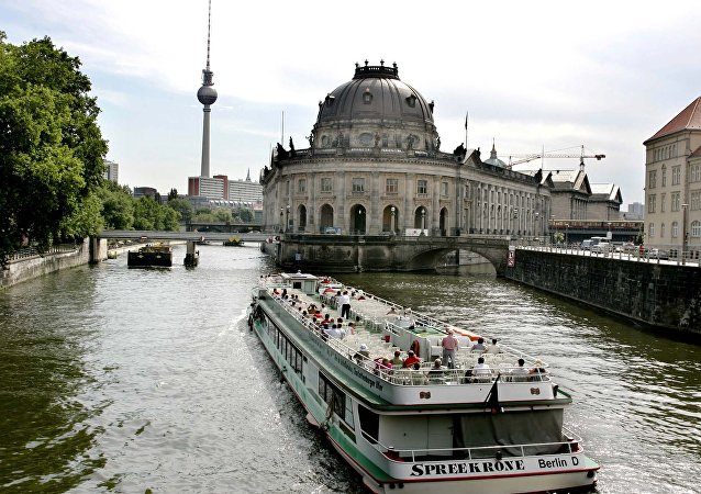 View of the River Spree and the Museum island in Berlin on Thursday, July 28, 2005