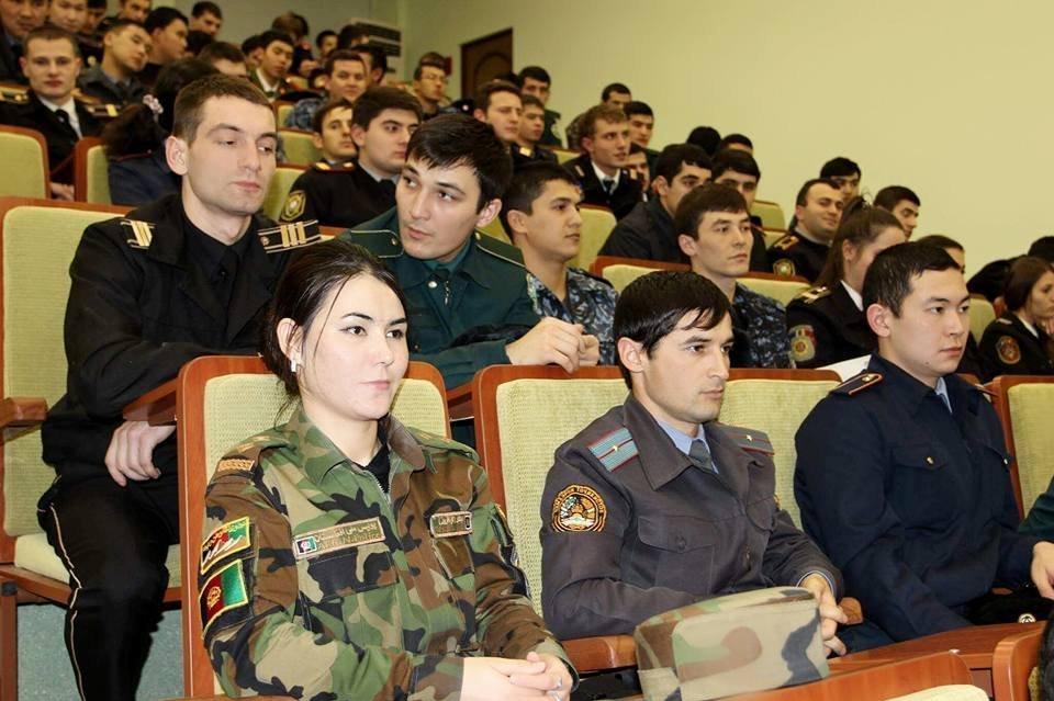 Gol Afruz Ebtekar attending a lecture.