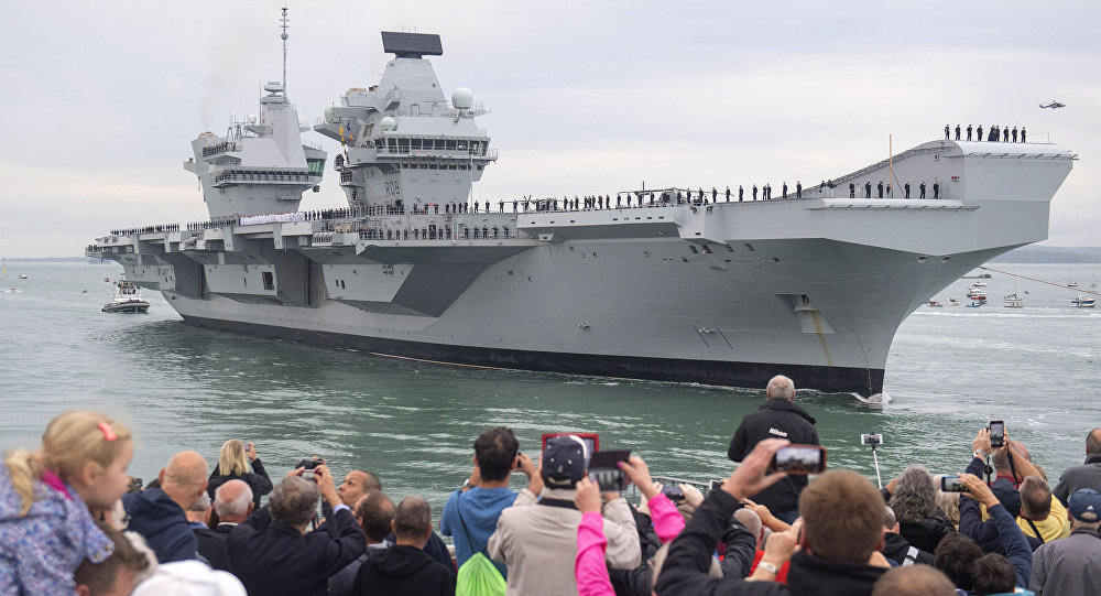 UK's brand new £3.1bn aircraft carrier springs a leak