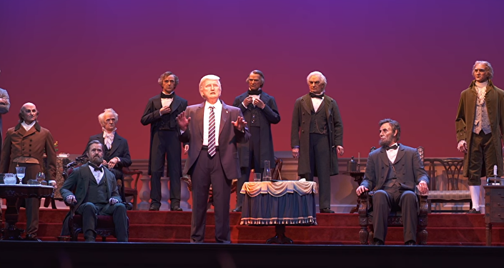 Disney unveils animatronic of President Donald Trump in its Hall of Presidents exhibit in Orlando, Florida