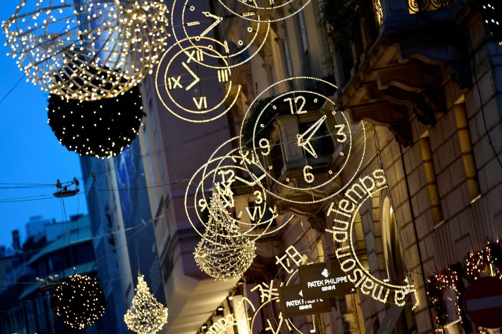 Christmas lights decorations are pictured in the Quadrilatero della Moda, a high-class shopping district, in Milan