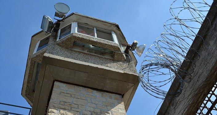 Guard tower in prison