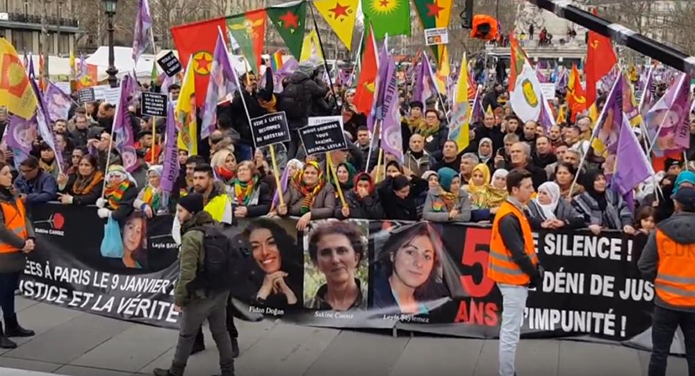 Kurdhish protest rally in Paris