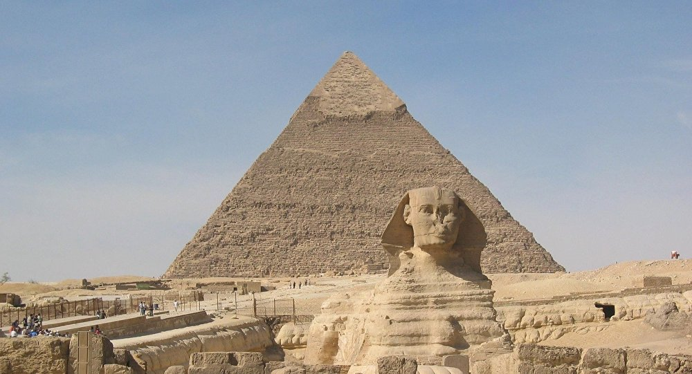 Sphinx and Pyramid of Cheops