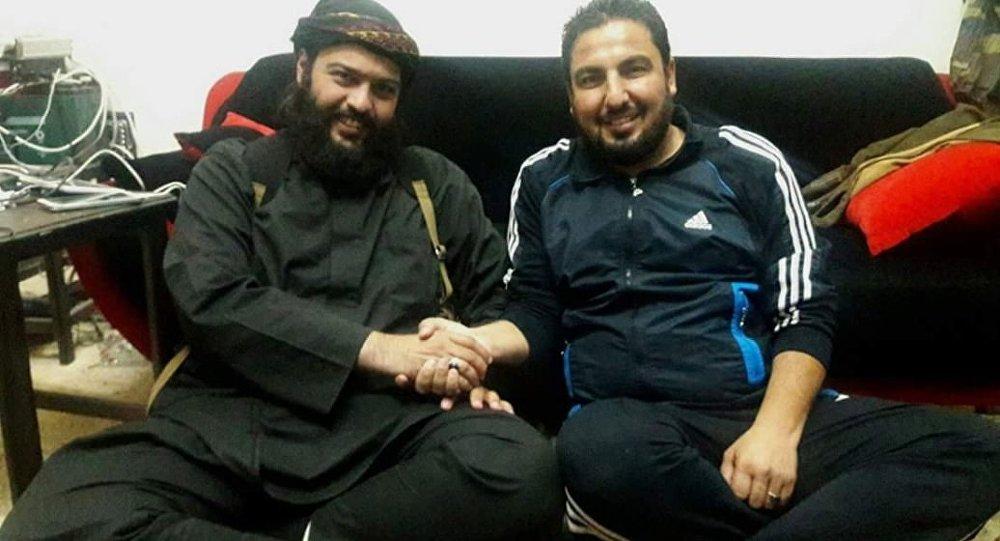 Wanted terrorist Abdullah al-Muhaysini and 'brave journalist' Abu Omar