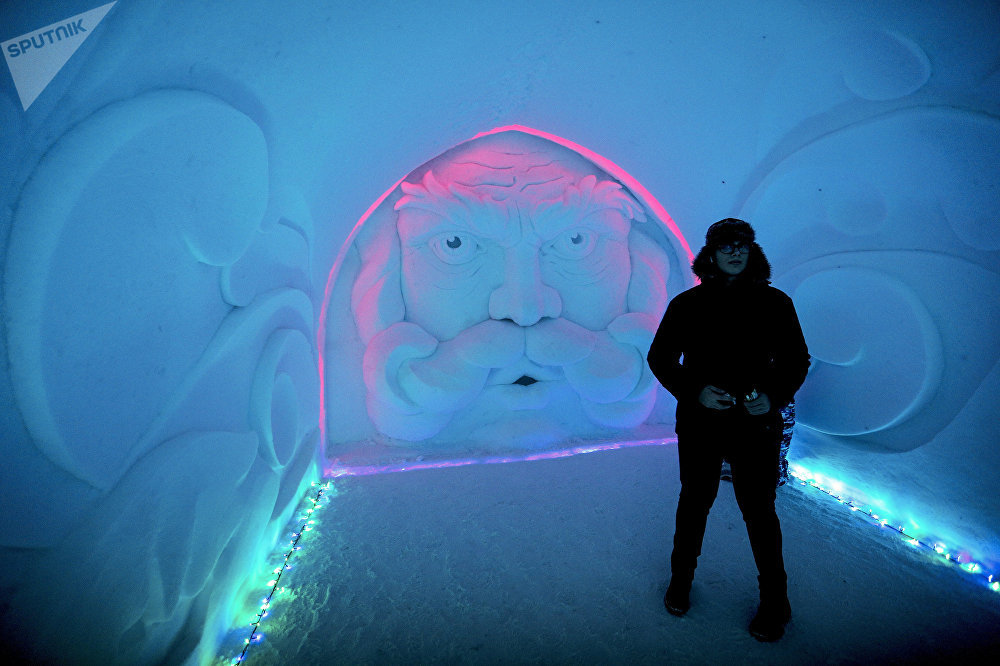 'Ice Palace' and Snow Village in Russia's Extreme North